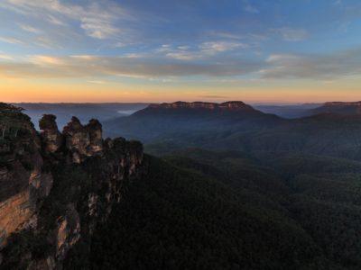Blue Mountains im Morgengrauen